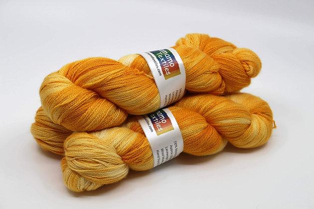Gold Merino Silk Yarn