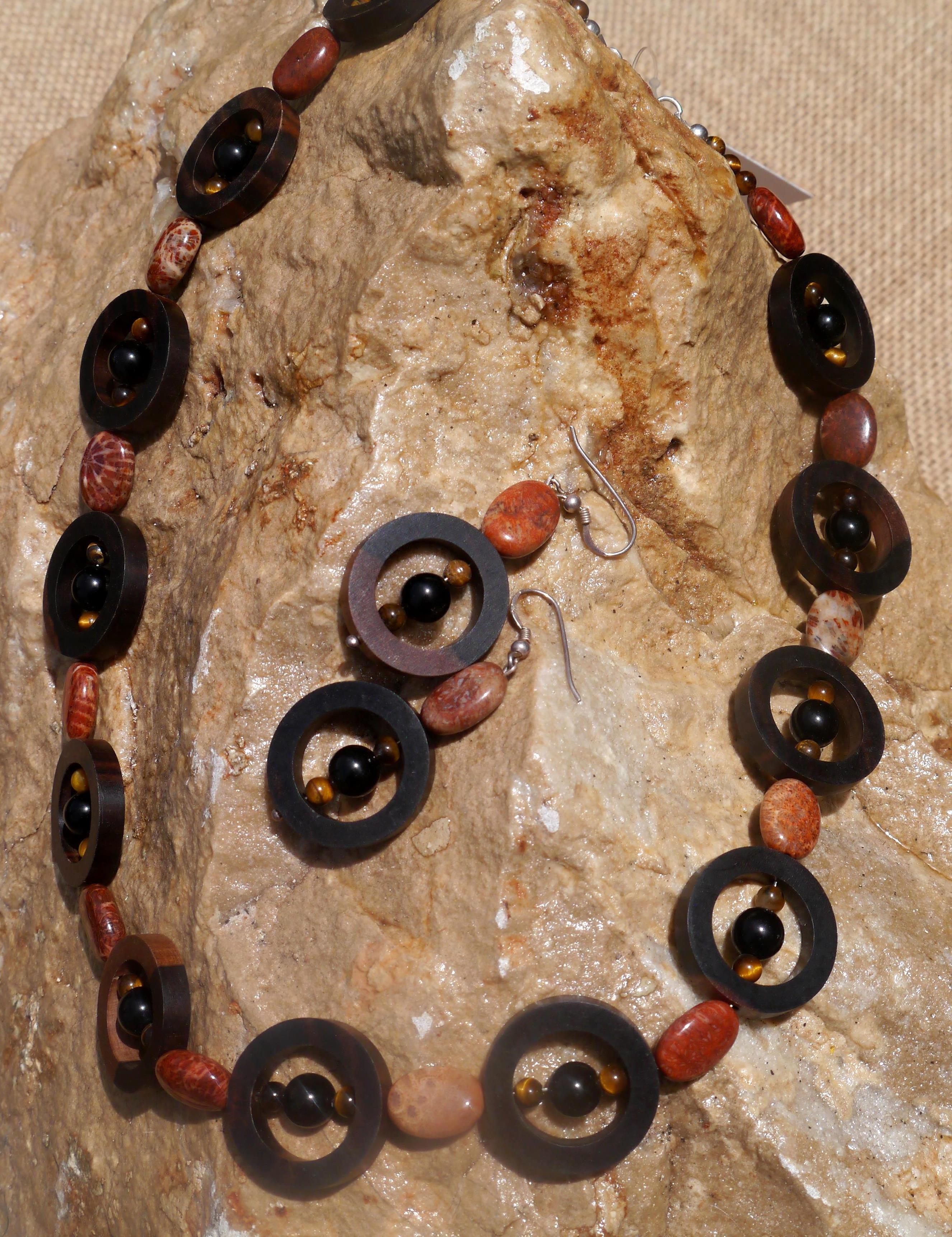 Pakitan Wood,Onyx, & Fossil Agate