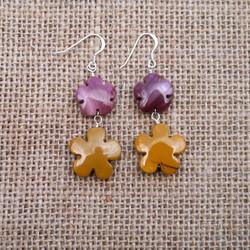 Mookite flower earrings