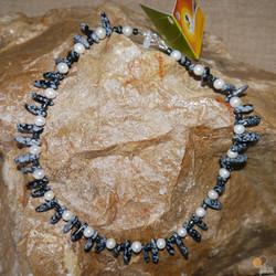 Snowflake obsidian, FWP & Haematite
