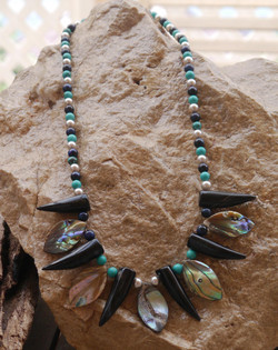 Shell pearl, onyx,tigers & turquoise