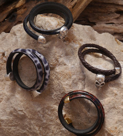 Leather memory wrist bands