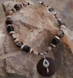 Botswana and Lace Agate & Wood