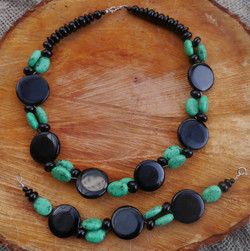 Black Onyx and Turquoise