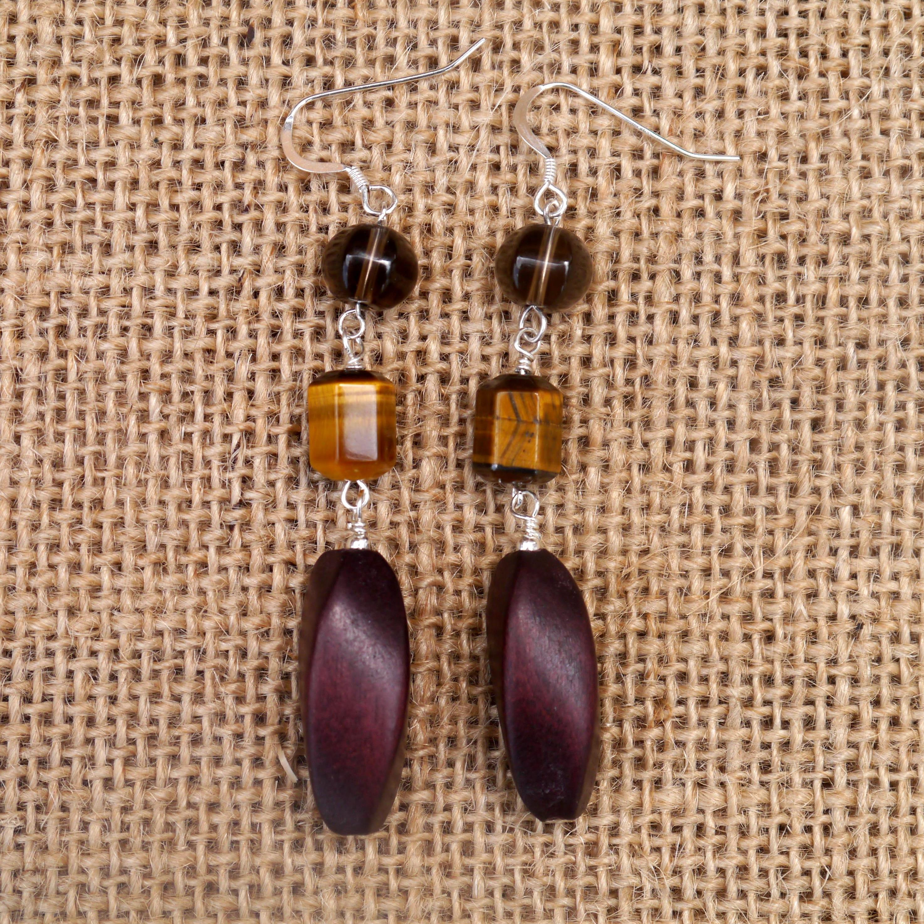 Smoky Quartz & Tigers eye