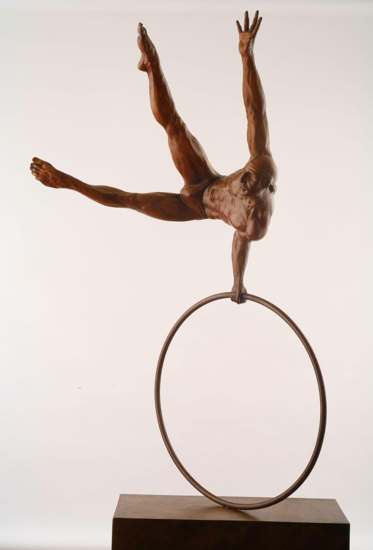 Gymnast on circle