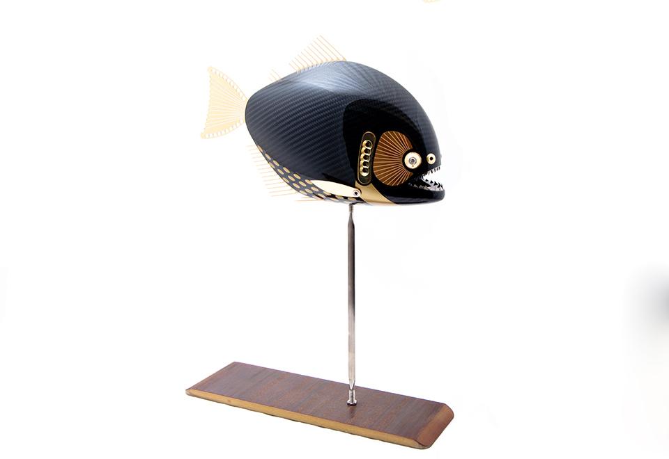 gold racing piranha