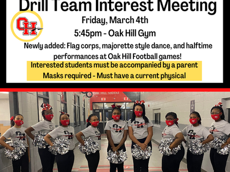 Drill Team Interest Meeting!