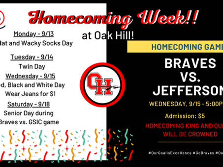 OHMS Announces Homecoming Activities!