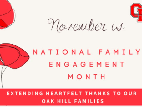 November is National Family Engagement Month
