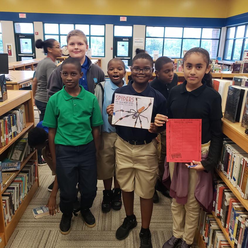 Kids find spider book