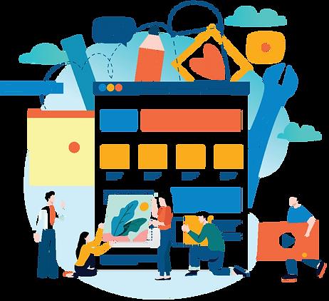 A team bringing design ideas to life