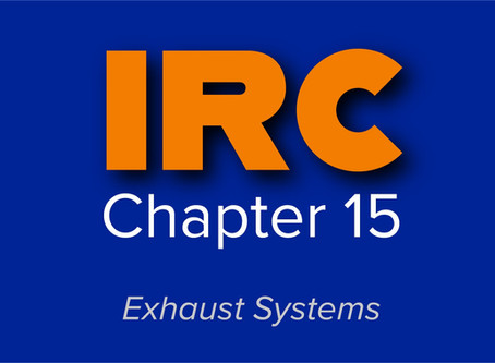 IRC Chapter 15: Exhaust Systems