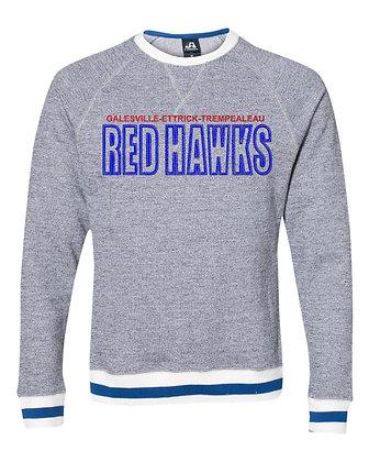 Red Hawk Peppered Fleece Crew