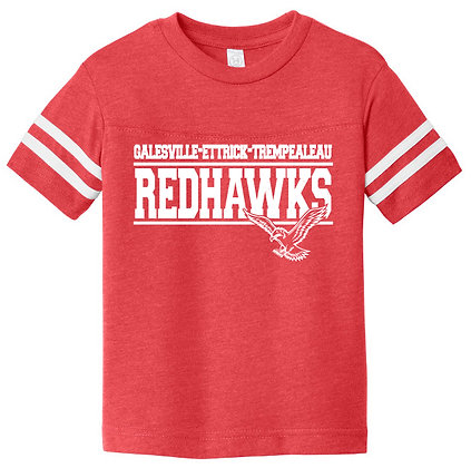 Red Hawk Football Fine Jersey Youth Tee