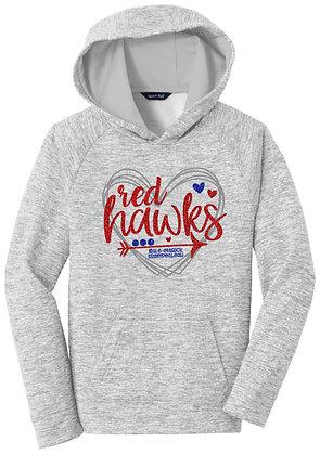 Red Hawks Heart Hoodie