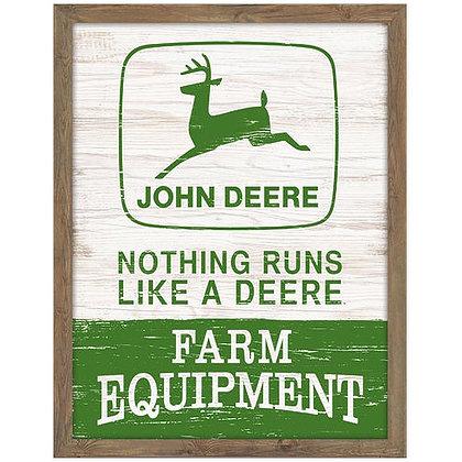 John Deere Wood Framed Wall Art