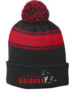 Raiders Stripe Pom Pom Beanie