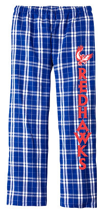 Red Hawks Royal Flannel Pants