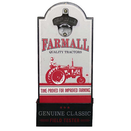 Farmall Quality Tractors Wooden Bottle Opener Sign