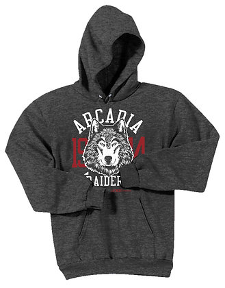 Raiders Dark Heather Hooded Sweatshirt