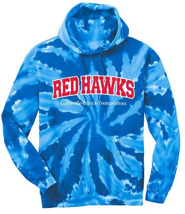 Red Hawks Tye-Dye Sweatshirt