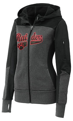 Ladies Raiders Poly Zip-up