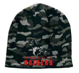 Raiders Black Camo Beanie