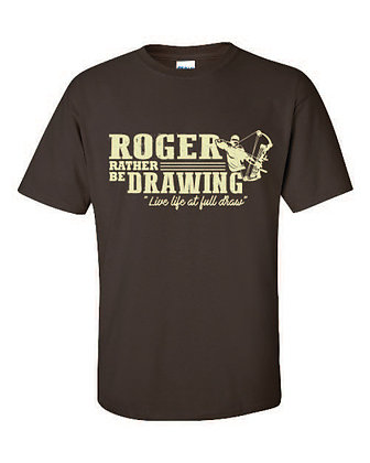 Youth Roger Rather Be Drawing T-shirt
