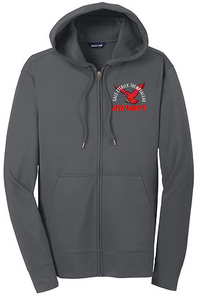 Red Hawk Sport-Wick Hooded Zip-Up