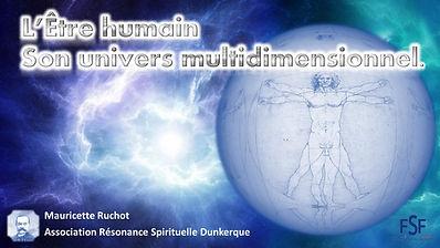 L ETRE HUMAIN SON UNIVERS MULTIDIMENSION