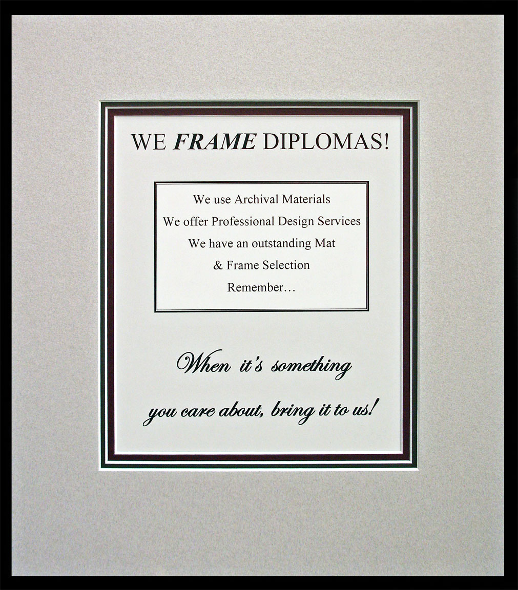 Diploma Frames   built to last