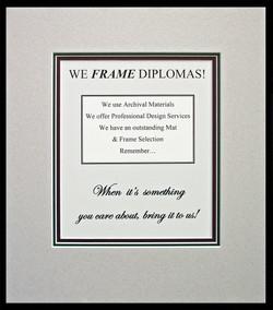 Diploma Frames   built to last