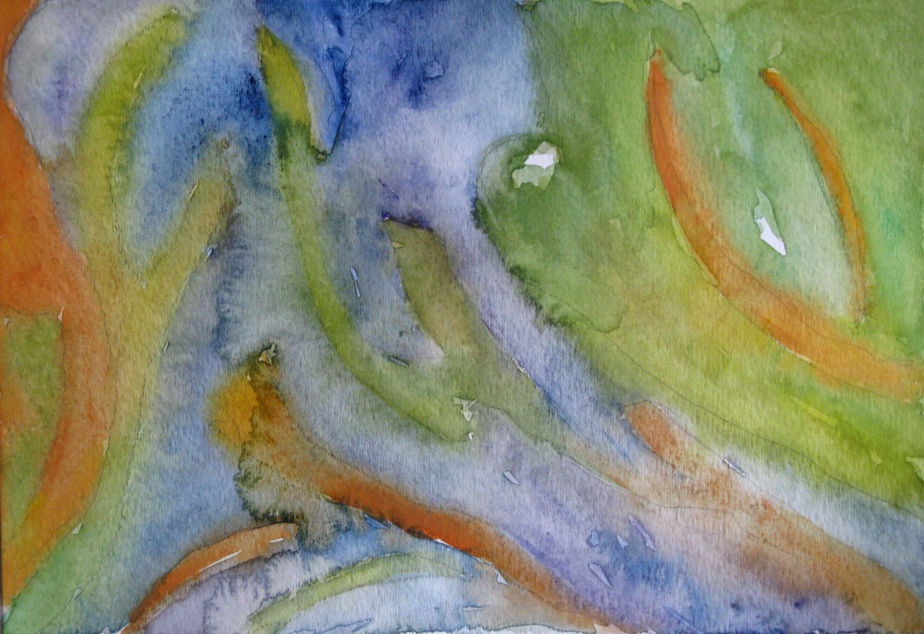 Tide Pools  watercolor