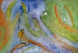Tide Pools  watercolor
