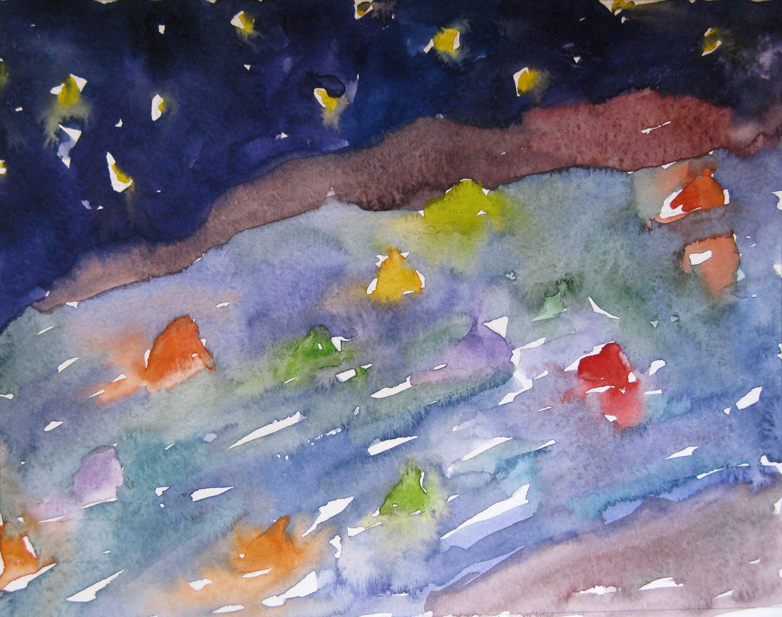 Colors on the Water watercolor