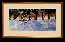 Watercolor Winter Scene