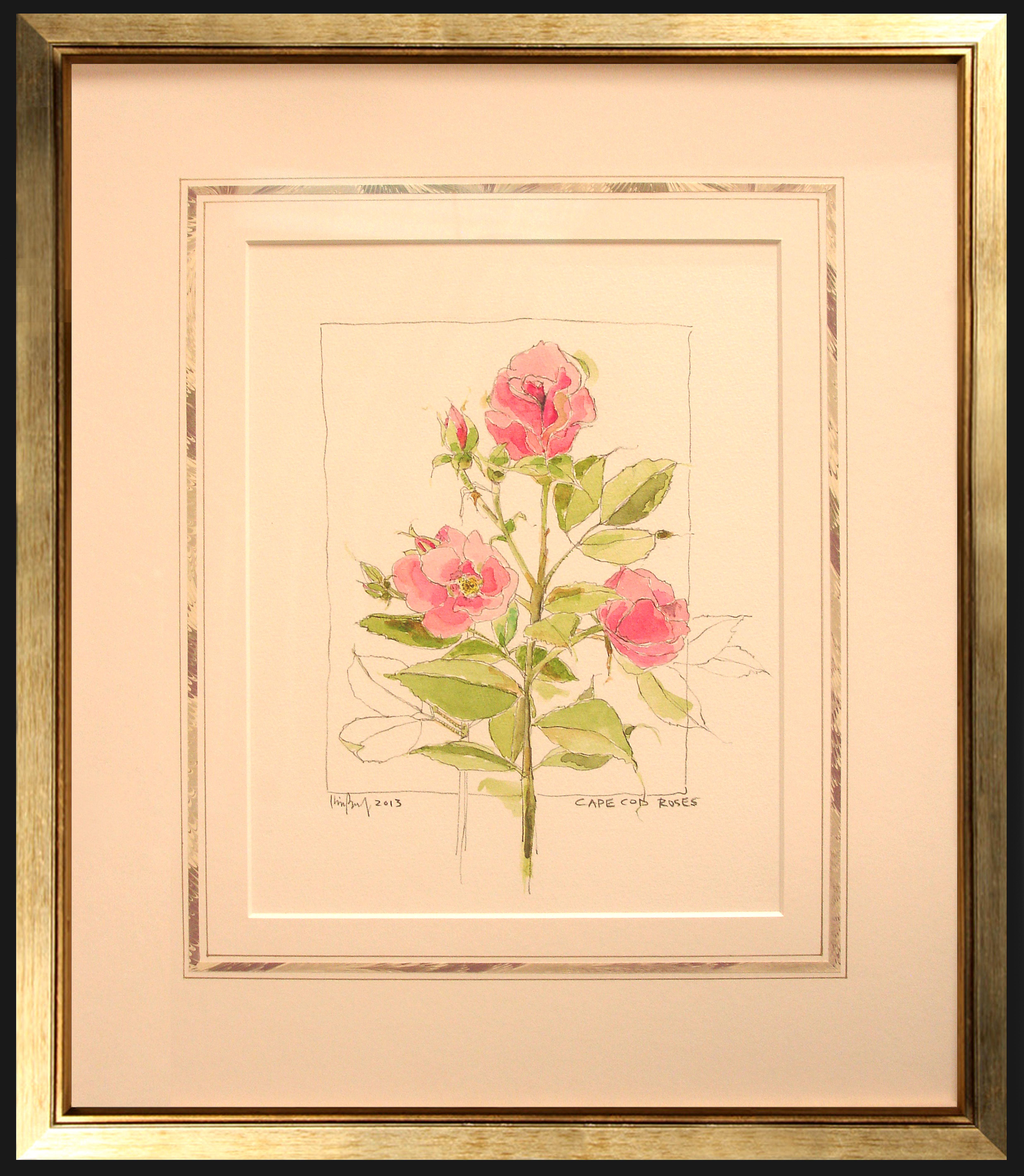 Roses w/ French Matting