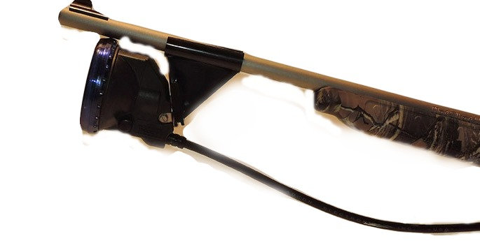Black plastic rifle clip to hold your light onto your gun barrel