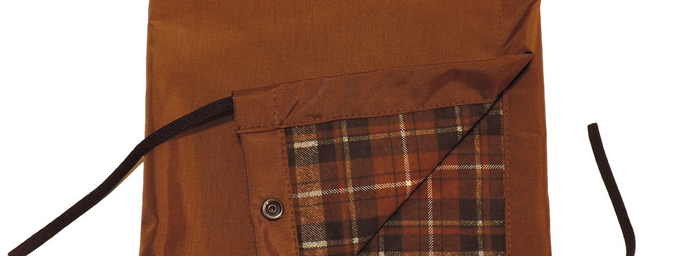 Brown briar proof nylon detachable snap on flannel hood