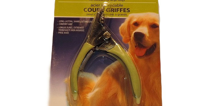 Stainless steel comfort grip dog nail trimmers / clippers