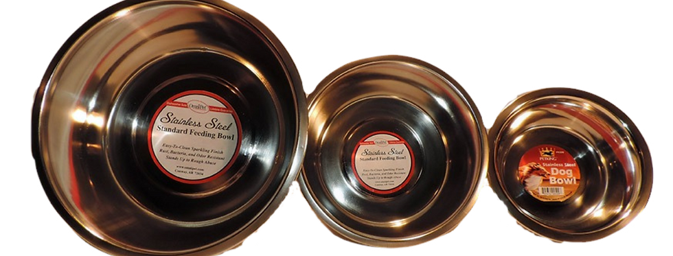 stainless steel dog bowl one , two, or five quart