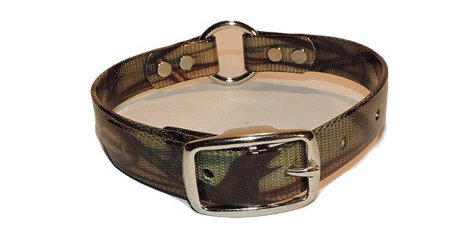 3/4 inch green camo dayglo dog collar