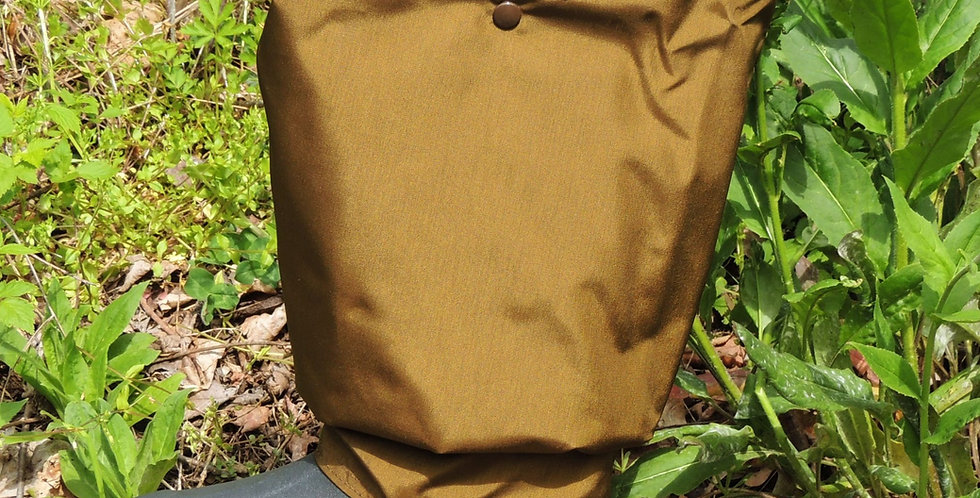 Brown briar proof, waterproof nylon bibs. Lifetime warranty leg zippers.