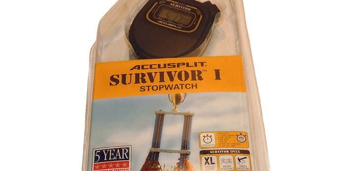 Survivor basic stopwatch comes with lanyard