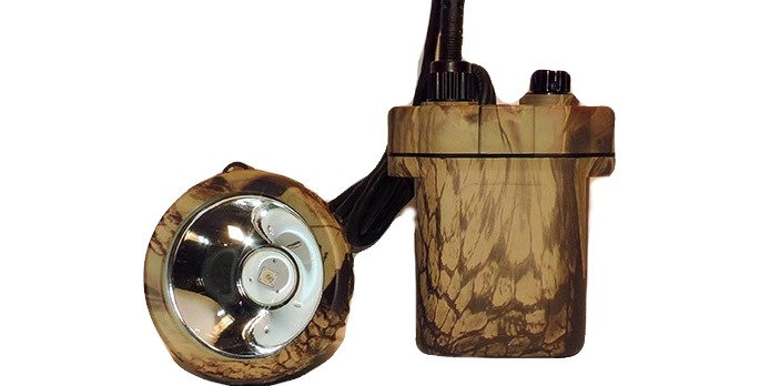 Camo LED light with belt loop on back long cord with light head attached