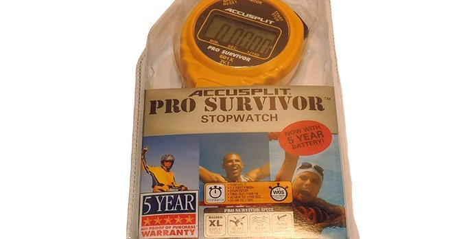 Pro Survivor water resistant Stopwatch with large numbers and large start stop button
