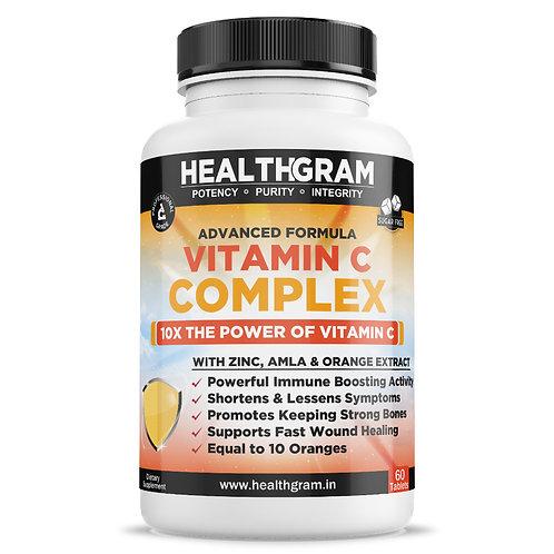 Healthgram Vitamin C 1000 mg and Zinc 10mg Complex - 60tab