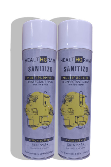 Healthgram Sanitizo Multipurpose Disinfectant Spray - 600ml