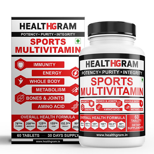 Healthgram Sports Multivitamin - 60tab